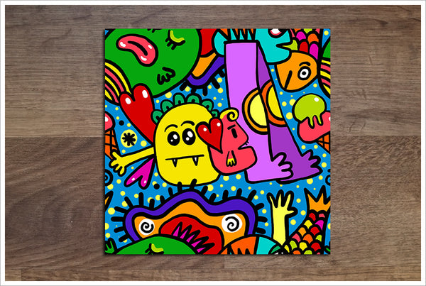 Abstract Cartoon 01 - Ceramic Tile Border