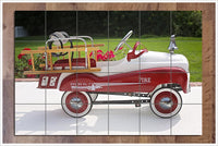 Kids Firetruck Peddle Car -  Tile Mural