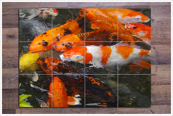Koi Fish -  Tile Mural