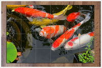 Koi Fish 02 -  Tile Mural