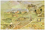 1932 Los Angeles Map -  Tile Mural