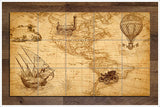 Vintage Map Collage -  Tile Mural