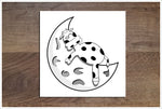 Moon Cow -  Accent Tile