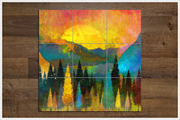 Mountain Sunset Painting -  Tile Mural