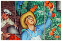 Orange Grove Workers -  Tile Mural