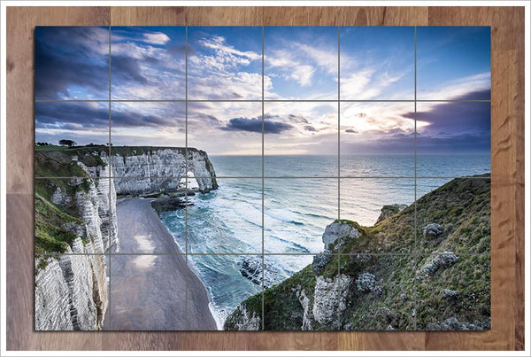 Étretat Cliffs on the Ocean -  Tile Mural
