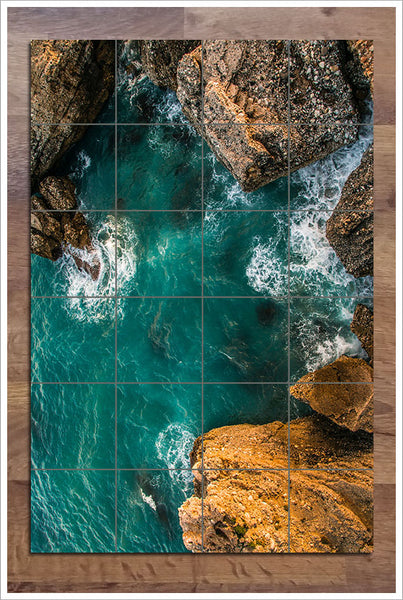 Ocean Rocks - Ceramic Tile Mural