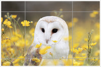 Owl Flowers -  Tile Mural