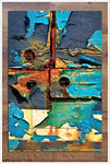 Paint Peeling Abstract - Ceramic Tile Mural