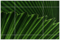 Palm Fronds Abstract -  Tile Mural