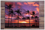 Palm Tree Sunset -  Tile Mural