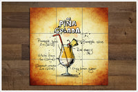 Pina Colada Cocktail -  Tile Mural