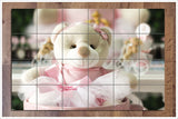 Pink Teddy Bear -  Tile Mural