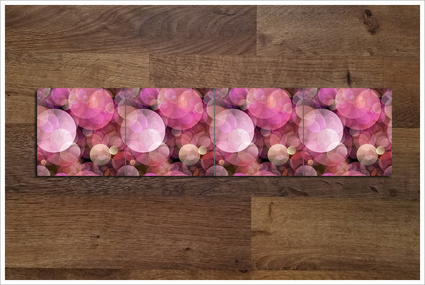 Pink Abstract Circles - Ceramic Tile Border
