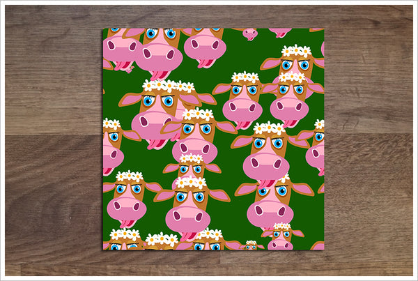 Pink Cows -  Tile Border