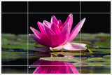 Pink Water Lillies -  Tile Mural