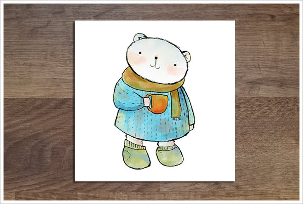 Polar Bear Cartoon -  Accent Tile