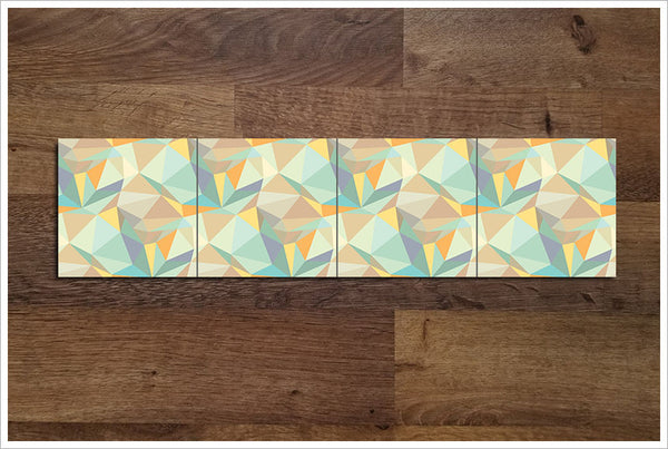 Polygon Abstract Pattern - Ceramic Tile Border