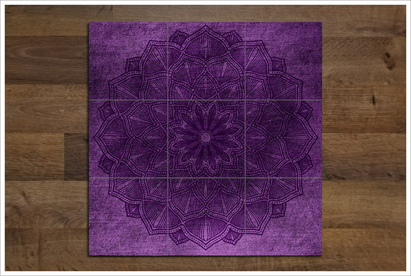 Purple Flower Graphic -  Tile Mural