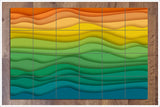 Abstract Rainbow Graphic -  Tile Mural