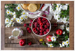 Raspberries & Daisies -  Tile Mural