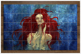 Red Hair Mermaid -  Tile Mural