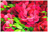Painted Roses -  Tile Mural
