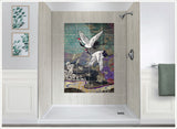Heron Crane Graphic - Ceramic Tile Mural