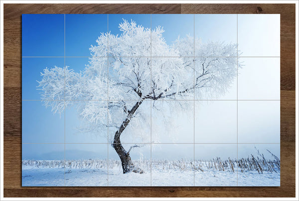 Snow Tree - Ceramic Tile Mural