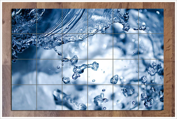Splashing Water -  Tile Mural