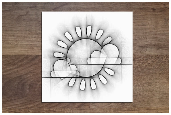 Sun & Clouds Pencil Sketch -  Accent Tile