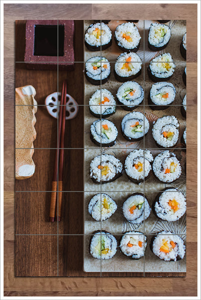 Sushi Cut Roll - Ceramic Tile Mural
