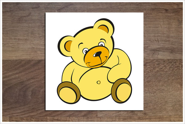 Yellow Teddy Bear -  Accent Tile