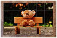 Teddy Bear on Bench -  Tile Mural