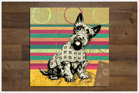Scottish Terrier Collage -  Tile Mural