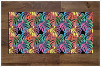 Tiki Bar Flowers 03 -  Tile Border