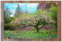 Trees and Tulips -  Tile Mural