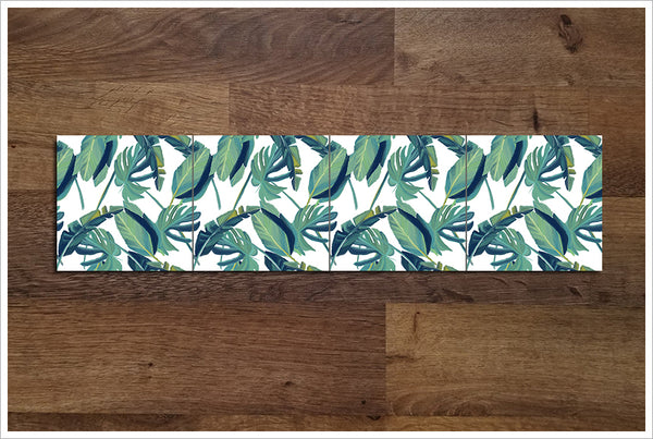 Tropical Palm Leaves -  Tile Border