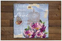 Victorian Flower Butterfly Collage -  Tile Mural