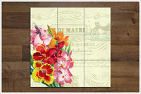 Vintage Flower Collage 05 -  Tile Mural