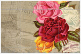 Vintage Rose Collage 02 -  Tile Mural
