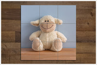 White Teddy Bear -  Tile Mural