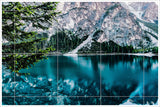 Winter Mountain Lake Reflection - Ceramic Tile Mural