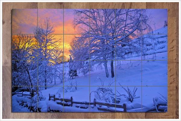 Winter Sunrise -  Tile Mural