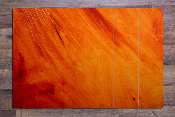 Orange Abstract Painting - Ceramic Tile Mural