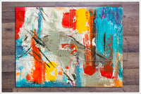 Multi-Color Abstract Painting 03 - Ceramic Tile Mural