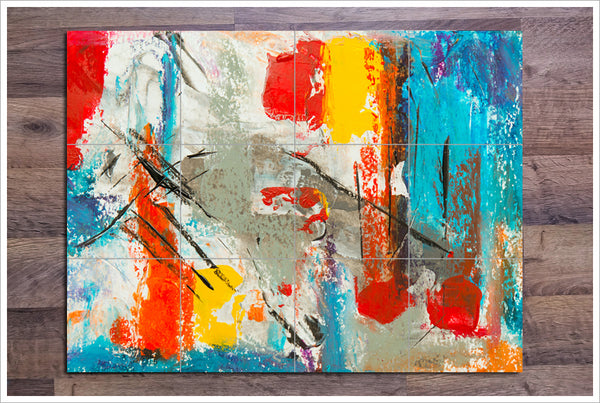 Abstract Painting 08 - Ceramic Tile Mural