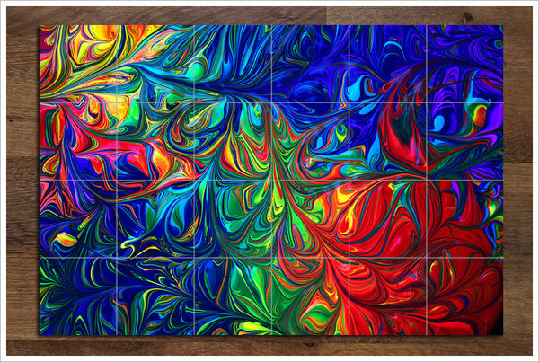 Abstract 09 - Ceramic Tile Mural
