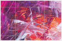 Pink & Blue Abstract Painting -  Tile Mural