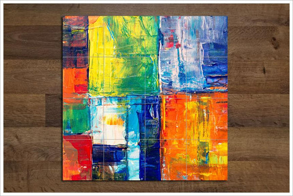 Abstract Painting Ceramic Tile Mural